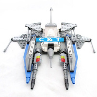 Ausini Spaceship 25470 Building Blocks Sets 209pcs Educational DIY Self-locking Bricks Toys or Children Christmas Gift