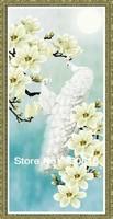Alice diy diamond painting cross stitch animal white peacock