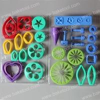2013-New,Free shipping,Plastic Flower Shape Gum Paste Press Mold Set,Cake Decorating Tools,Cake Molds