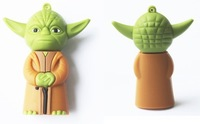 Welcome Mix Cheapest yoda USB Drive, genuine 1G 2G 4G 8G 16G yoda usb flash drive star war master yoda PVC USB Flash Drive