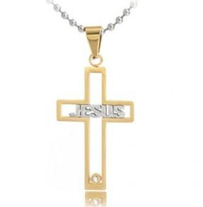 Korean Fashion Men's Jewellery Titanium Steel Necklace Wholesale Free shipping 316L Stainless Steel Cross Pendant(China (Mainland))