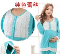 2014 Maternity clothing autumn women cotton Sleep  Lounge clothing nursing clothes maternity set nursing clothing sleepwear home