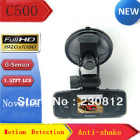 HK FreeShipping HD 1080P Car black box with G-Sensor function & 120 degree ultra wide angle lens C500