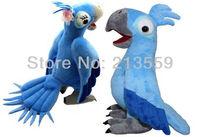 "Free Shipping New 8"" Rio the Movie Toy Blu Jewel Plush Macaw Stuffed Cute Animal Bird Set of 2 Retail"