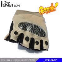 Hot Sale!Outdoor Sport Military Fans O Tactical Gloves Half Finger Tan/Black