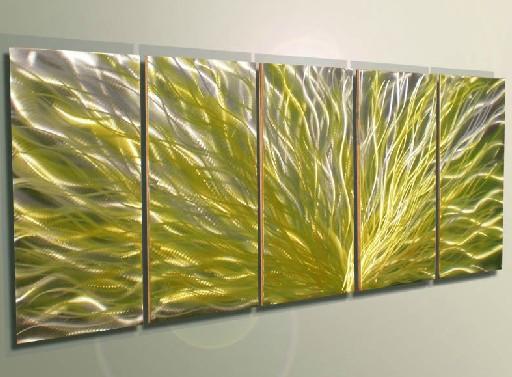 Metal Art Wall Original Metal Painting Art Abstract Painting Wall Art