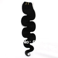 "12""-26""#1Jet Black100g   Hair Product 100% Human Hair Wholesale Brazilian Hair Extension Good Price Hair Weave Free Shipping"