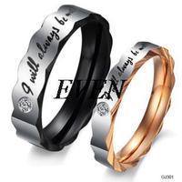 Fashion Jewelry Titanium 2014 New Hot Selling CZ Diamond Rhinestone Promise Couple Wedding Lovers Rings For Women Men