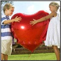 Free Shipping Heart Shape Design Aluminum Foil Ballon Party Festival Balloon Decoration 30''/ 75cm 10pcs/lot 5 Colors Kids Toy
