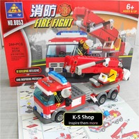 Kazi Fire Truck 8053 Building Blocks Sets 244pcs Legoland Educational DIY Bricks Toys;Compatible with LEGO;FREE SHIPPING