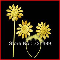 party supplies headband hair accessory fairy stick  sunflower
