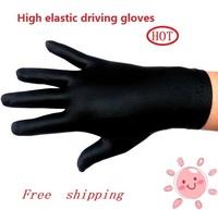 2014 New arrival fashion Men's women's high-elastic black anti-uv thin summer driving gloves russian brazill free lovas shipping