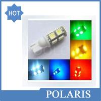 Wholesale T10 9SMD 5050 9led 9 led 9 smd Car 194 168 192 W5W LED Light Automobile Bulbs Lamp Wedge Interior Light 100pcs/lot