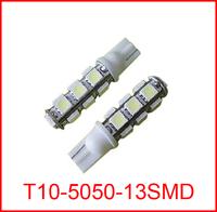 10pcs/lot  wholesale T10 13 SMD led 13smd 13led 5050 indicator Light Auto car led Wedge BULB LAMP
