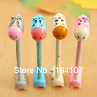 Creative ultra Q lovely  little donkey  pen, 10pcs standing ball-point pen ,hippo pen