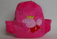 peppa pig Cartoon baby School shoulder school bags Bolsas plush Backpack for girls peppa bags Mochila The Knapsack free shipping
