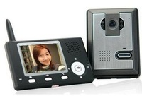 Free shipping Wireless Video Intercom System,wireless color video door phone bell indoor monitor system