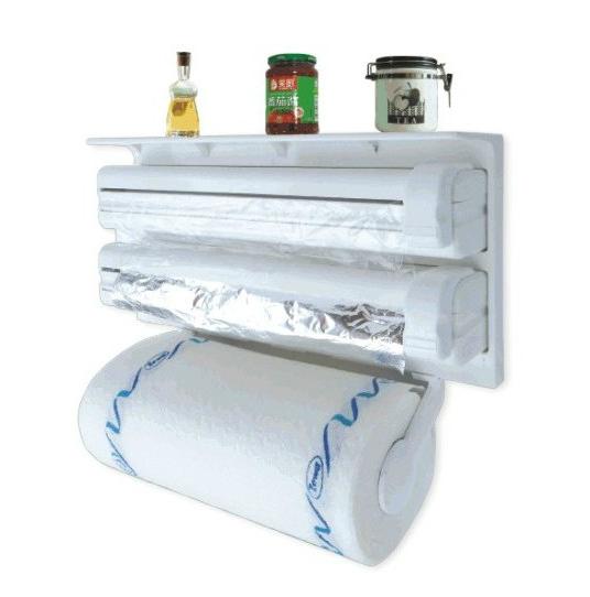 Keuken Wand Rek : Paper Towel Holder Plastic Wrap Aluminum Foil