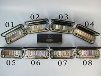 8PCs/Lot Wholesale Professional CC brand Makeup 9 colors Quadra Eyeshadow palette 21g 8 diff color palete Free shipping