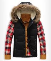 waterproof windproof jacket warm winter  men's winter jacket with fur men's winter cap man jacket brand down  man