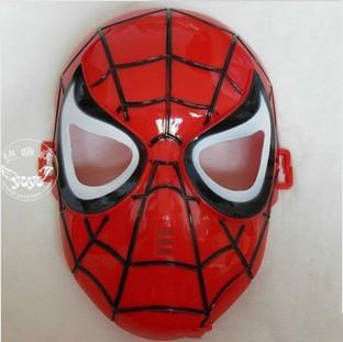 Free Shipping 5pcs/lot Wholesale Children Kids Plastic Masks Wholesale Kids Party Cartoon Spiderman Mask(China (Mainland))