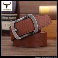 100% genuiner leather mens belt jeans pin buckle cintos belt mens cow real cowhide leather starps belts for men