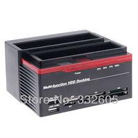 "Mutil-Function 2.5/3.5"" 2x SATA HDD Docking Station Clone eSata USB 2.0 HUB Free Shipping"