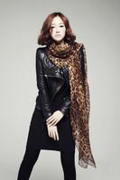 Big Size Free Shipping 2014 New Style Women's Long Silk Leopard Print Scarf Velvet Chiffon Scarf Lady's Accessories JD-02