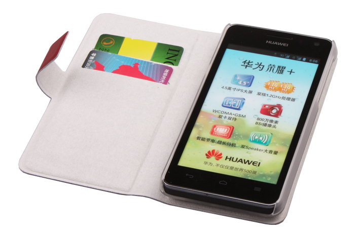 Full protection Genuine leather flip case for Huawei U8950D T8950 G600 U9508, with retail package(China (Mainland))