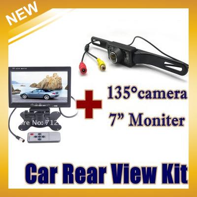"""New Car Styling Parking Assist free Shipping ,car Reversing Rear View Kit Night for Vision Camera+7"""" Tft Moniter Pal Ntsc(China (Mainland))"""