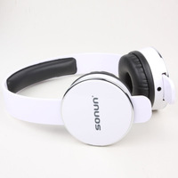 SONUN SN-T1 Stylish Headphone Headset w/ Microphone for PC - White + Black *5p