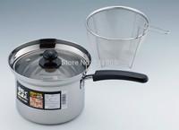 18 cm stainless steel Japan multi-function noodles fryer pan soup pot cooking pot all-round multi-purpose POTS
