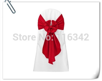 Factory Price Wedding Stain  Chair Cover Sashes & Chair Sash & Bow Chair Sashes--Free Shipping