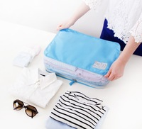 Multifunctional portable travel organizer mesh bag, for clothes, underwares,  1pc S+1pc M+1pc L=1 set, 3 colors available