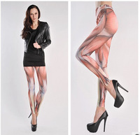 NEW WOMENS Strong Muscle Print SEAMLESS Stretch Pants Leggings new