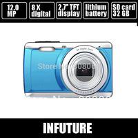 "12.0 mega pixels Digital camera digital  2.7"" TFT LCD 8 x digital zoom + 4gb sd card + 1 extra battery  DC-E80 free shipping"