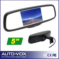 "Free Shipping Car 5"" TFT-LCD Reverse Rear View Mirror Monitor 2 AV-in for DVD GPS VCD Camera"