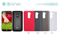 HK post free ship!Nillkin super frosted shield Case For LG G2 D802 Phone Cover retail box + screen protector