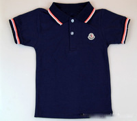 Baby boys T-shirts kids children short sleeve cotton lapel t shirt boy tee shirts 0824 sylvia 1224745097