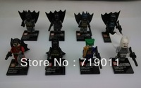 Free shipping Super Heroes batman,robin,joker Action Figure Building Blocks Toys 8 pieces/lot for the Christmas Gift