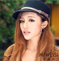 Princess fashion equestrian cap flat cap spring and autumn winter woolen hat female hat female