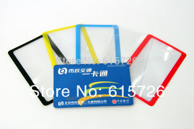 10pcs lot retail gift Ultra thin Credit 3X Card magnifier read reading bookmark Big magnifying