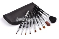 2013 new  Professional 9 Makeup Brush Set tools Make-up Toiletry Kit pupa Brand Make Up Brush Set Case free shipping