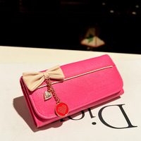 Never Miss! Fashion bow pendant  girl purse ssexy ady fashion women card bag handbags cute pretty hot girl wallet K8015