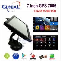7 inch car Android GPS navigation  A13 1.2GHz DDR512MB 8GB AV in Camera Android 4.0 1GO&Naivtel7.5 free map+car kits