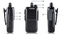 Walkie talkie high power hand-sets 10w 5 - 15 wireless vx1680 high quality professional waterproof