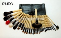 32 pcs/Set Hot Brand  Professional Makeup Basic Kit Classic Series Black imitation leather bag cosmetic brush set #pr30