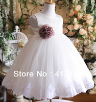 2015 New Factory Lace Tank Direct ! Beautiful Flower Girl Dress Princess One-piece Prom For Girls Party Freeshipping Children's