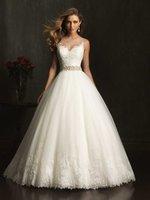 2014 New Fashion Wedding Dresses Elegant Bridal Appliques Ball Gown Wedding Dress Crystal Beading vestido de noiva Free Shipping