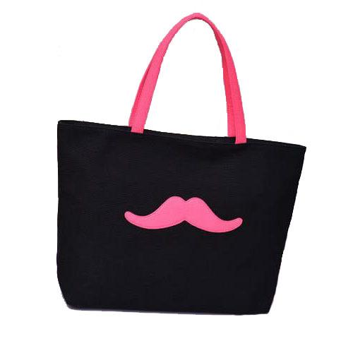 New Arrival Spring Canvas Bags Women Shoulder Bags Fashion Beard Pattern Large Capacity Handbags Portable Totes 5 Colors(China (Mainland))